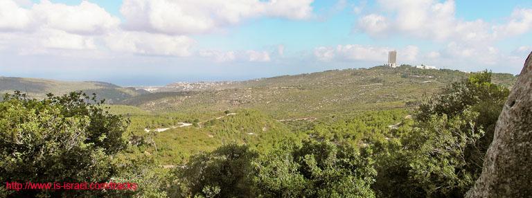 Вид на заповедник Гора Кармель