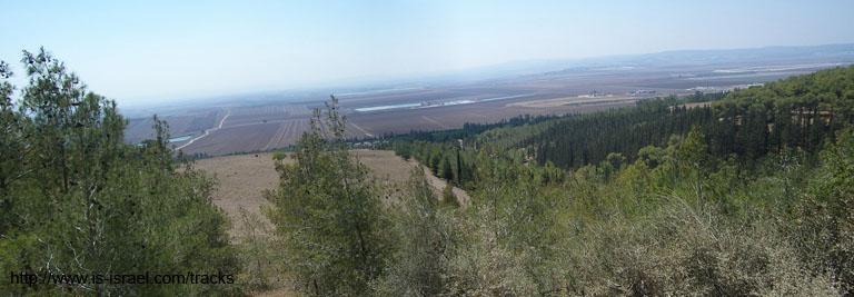 Вид с леса Бальфур на Эмек Изреэль (Изреэлевскую долину)